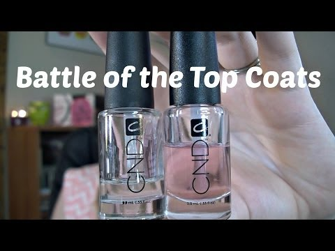 Battle of the Top Coats: CND Super Shiny & Speedy