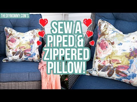 How To Sew A Throw Pillow With Piping And Zipper