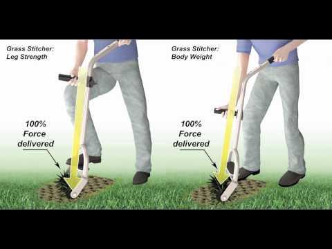 The Grass Stitcher is NOT a garden cultivator