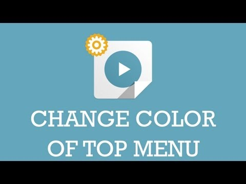 Customize JSN template video: Change color of top menu