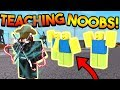 Download TEACHING NOOBS HOW TO PLAY SUPER POWER TRAINING SIMULATOR! (ROBLOX) MP3,3GP,MP4