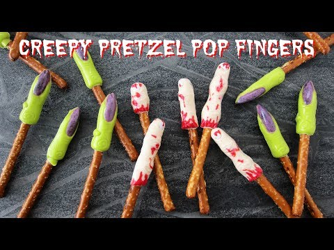 Creepy Pretzel Fingers for Halloween