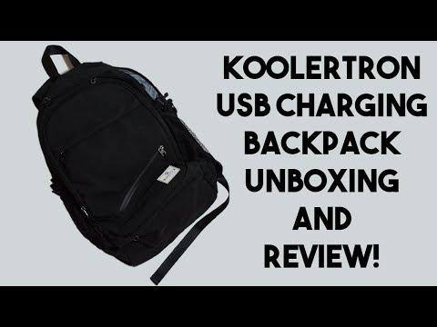 Laptop Bag with USB Charging Port?? Koolertron Laptop Bag with USB Port Review!