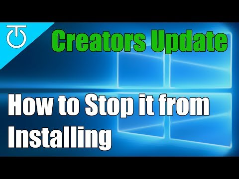 How to Disable Windows 10 Creators Update Notifications & Auto-Update