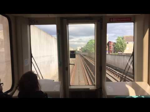 London Docklands Light Railway Ride from London City Airport to Kings V