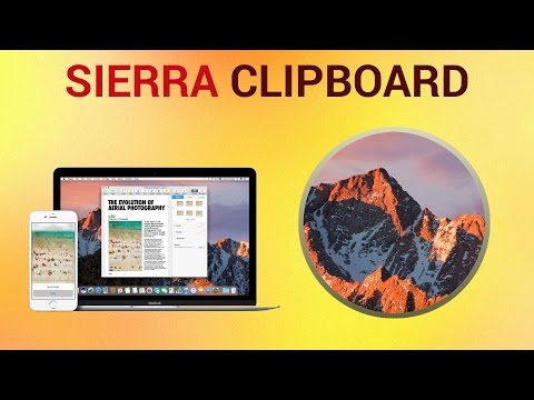 Universal Clipboard Features on mac OS Sierra