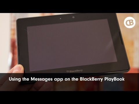 Using the Messages application on BlackBerry PlayBook 2.0