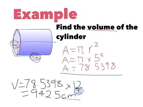 Year 8: Volume and Capacity of Cylinder