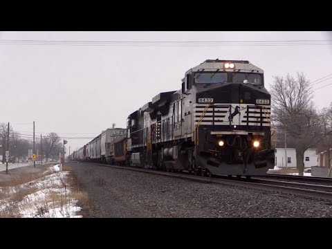 Norfolk Southern Chicago Line in the Winter