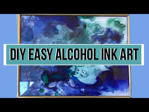DIY Fired Alcohol Ink Art⎮Easy Room Decor