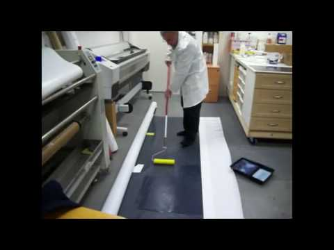 Floor roller coating - Landor Liquid Lamination