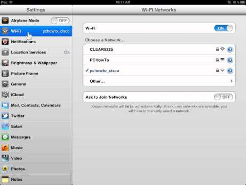 Apple iPad Join Wi-Fi Networks Automatically