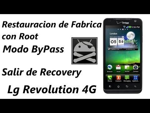 Hard Reset - Modo ByPass - Salir de Recovery Lg Revolution 4G