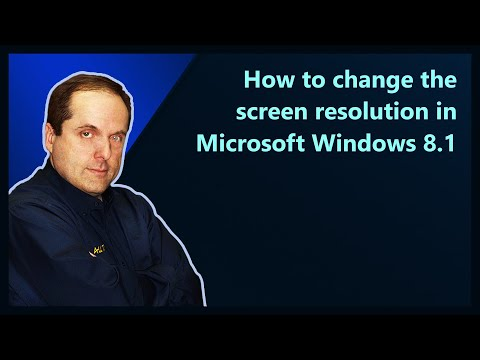 How to change the screen resolution in Microsoft Windows 8.1