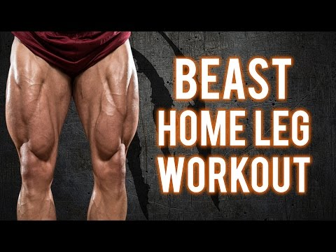 Brutal Home Leg Workout | Build BEASTLY Legs With This Workout -PT.1 (NO EQUIPMENT -BodyWeight ONLY)