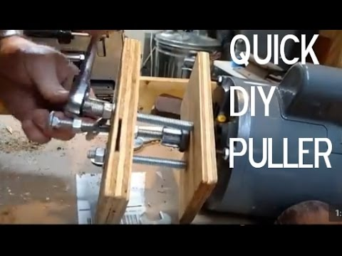 DIY Puller- Remove a Gear or Pulley from Motor Shaft in 15 minutes
