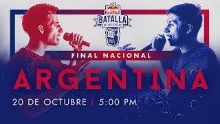 Final Nacional Argentina en vivo | Red Bull Batalla de los Gallos
