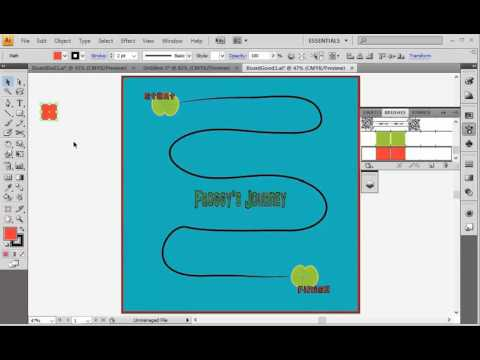 Creating a Board Game Path in Adobe Illustrator