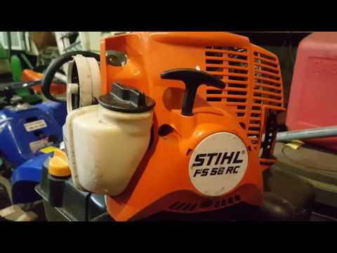 Stihl FS 56rc bogging down at full throttle due to clogged spark resistor