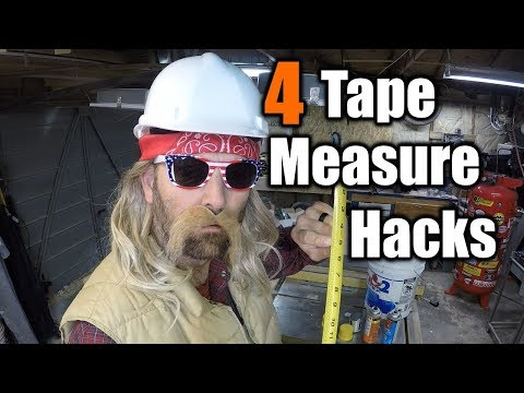 4 Tape Measure Hacks You Never Heard Of | THE HANDYMAN |