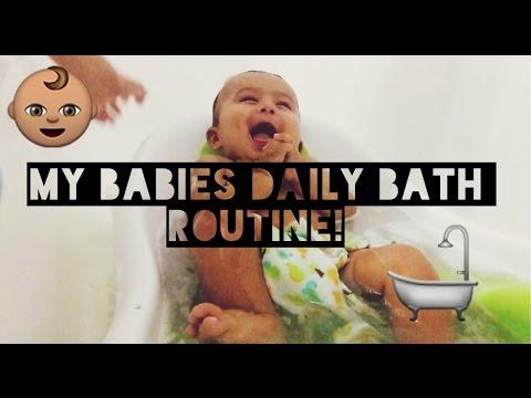 Teen mom: BABIES DAILY BATH ROUTINE