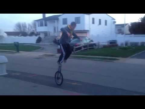 Mounting a 5 foot unicycle