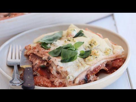 Tofu Ricotta Lasagna Recipe For Christmas Lunch | Vegan, Oil free & Gluten Free