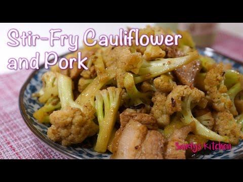 Chinese Stir-Fry Cauliflower and Pork 干锅花菜