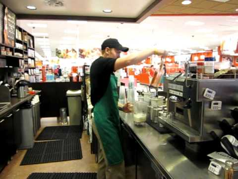 The making of a Cinnabon Frappuccino