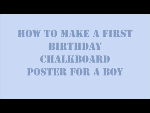 DIY How to make a first birthday chalkboard poster with explanation ( Silhouette studio )