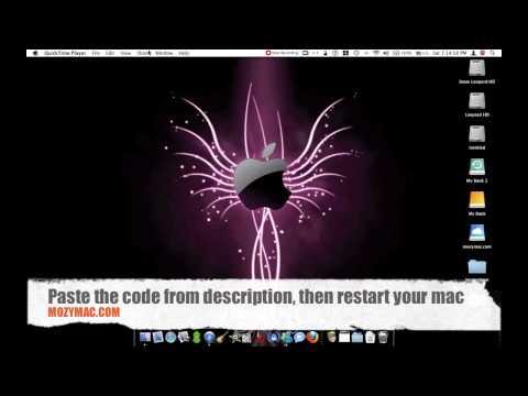 How to remove transparent menu bar in mac os x