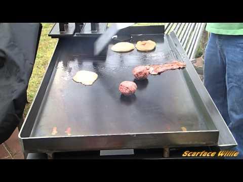 Bacon Egg Double Cheeseburger on Blackstone Griddle