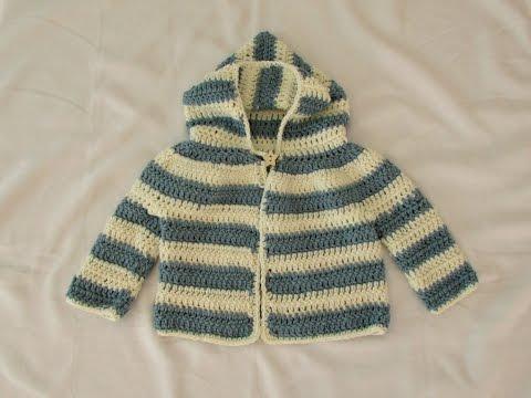 How to crochet an EASY children's sweater / hoodie / jacket