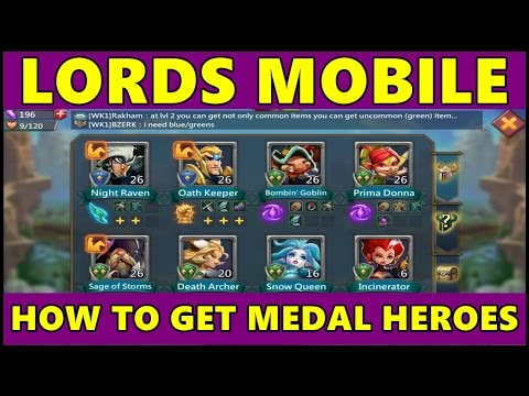 Lords Mobile: How To Get More Heroes in Lords Mobile ● Lords Mobile Medal Hero Android Gameplay