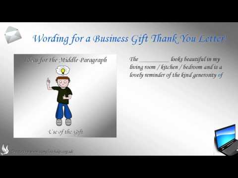 How to write a Business Gift Thank You Letter
