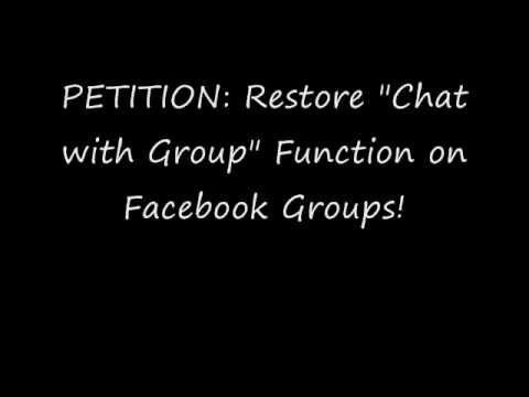 FACEBOOK PETITION TO RESTORE