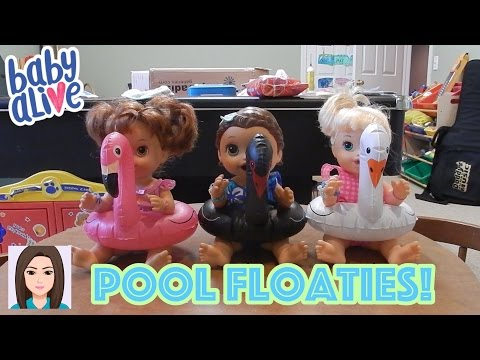 Baby Alive Triplets Test Out Pool Floaties!