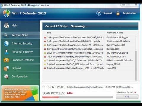 Remove Win 7 Defender Firewall Alert Virus: Rogue Uninstall Guide