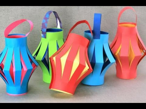 How to make an lantern  using origami paper ..lantern for the upcoming festive season