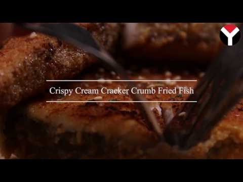 Crispy Cream Cracker Crumb Fried Fish