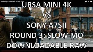 Blackmagic Ursa Mini 4k vs Sony A7sii