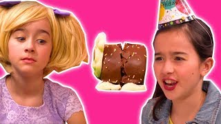 CHOCOLATE CATERPILLAR CAKE DISASTER 🎂 Lilliana Pranks Olivia - Princesses In Real Life   Kiddyzuzaa