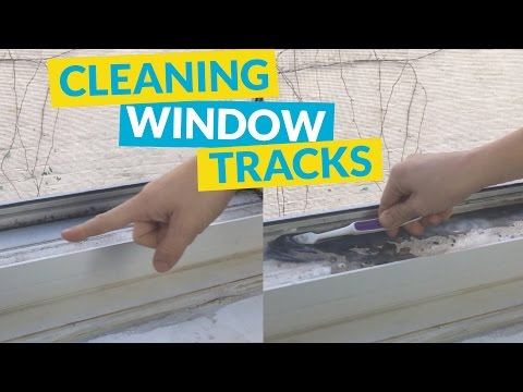 Cleaning Window Tracks