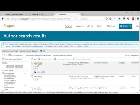 Citation Analysis Tools in Scopus