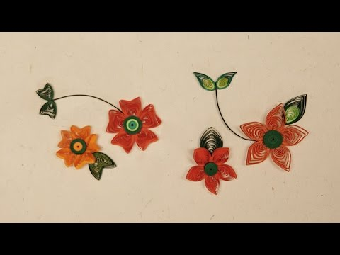 How To Make Quilling Flower Using Paper Art Quilling | Quilling Made Easy