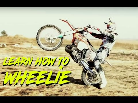 Learn To Wheelie A Dirt Bike (How to wheelie)