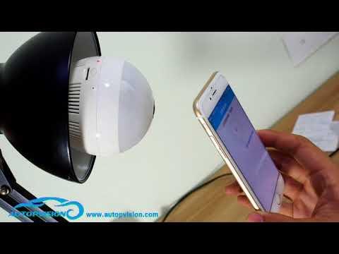 360° Fisheye Panoramic 960P Wifi LED Bulb Light Security Spy Camera