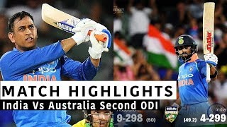 Download India Vs Australia Full Second ODI Highlights |Today Match Highlights Video