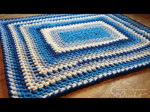 How to Crochet A 🐥  Baby Blanket: Baby Stripes