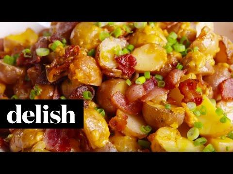 Loaded Slow-Cooker Potatoes   Delish